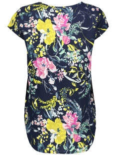 vmboca ss blouse border print 10184918 vero moda t-shirt night sky/vita aop m