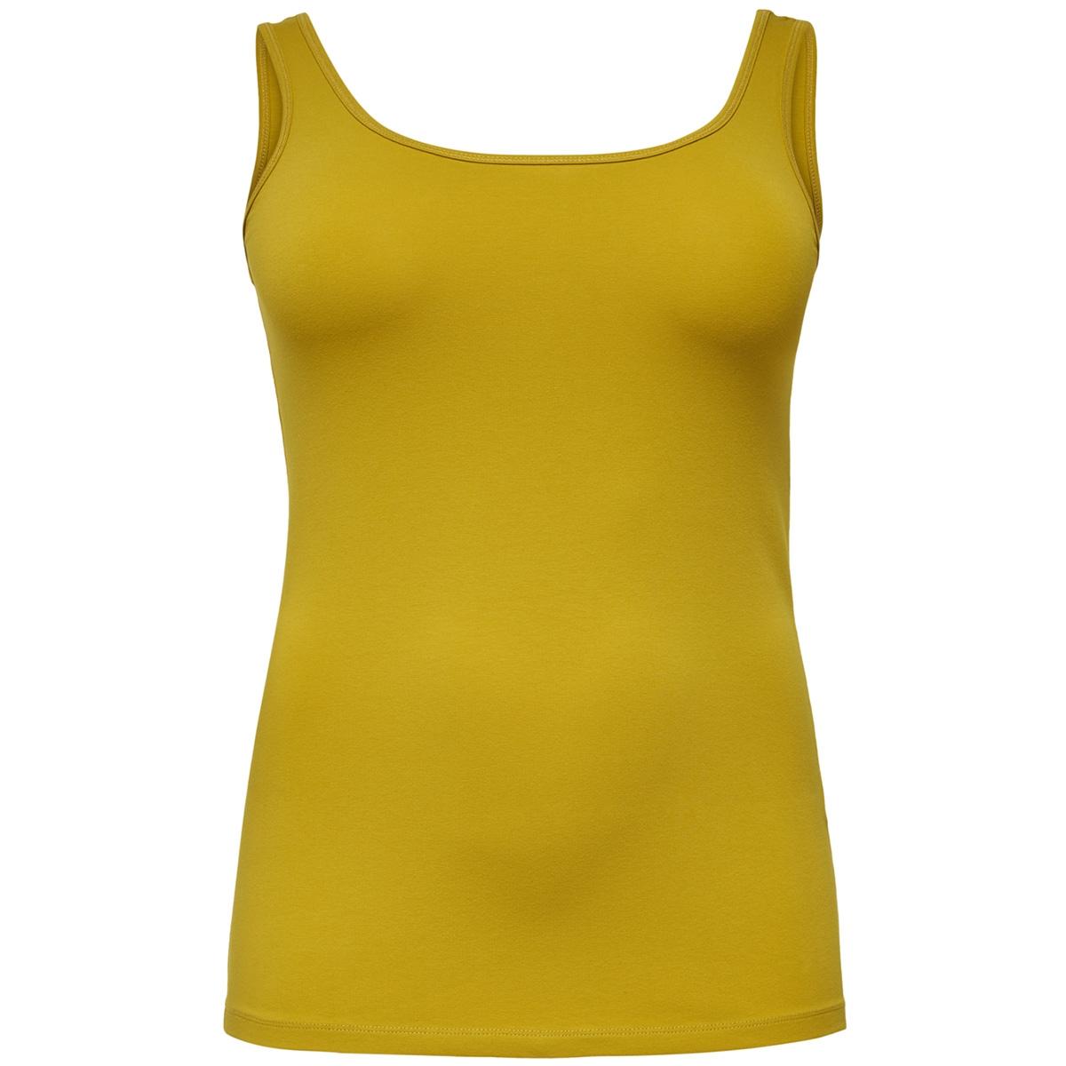 cartime tank top 15164345 only carmakoma top lemon curry