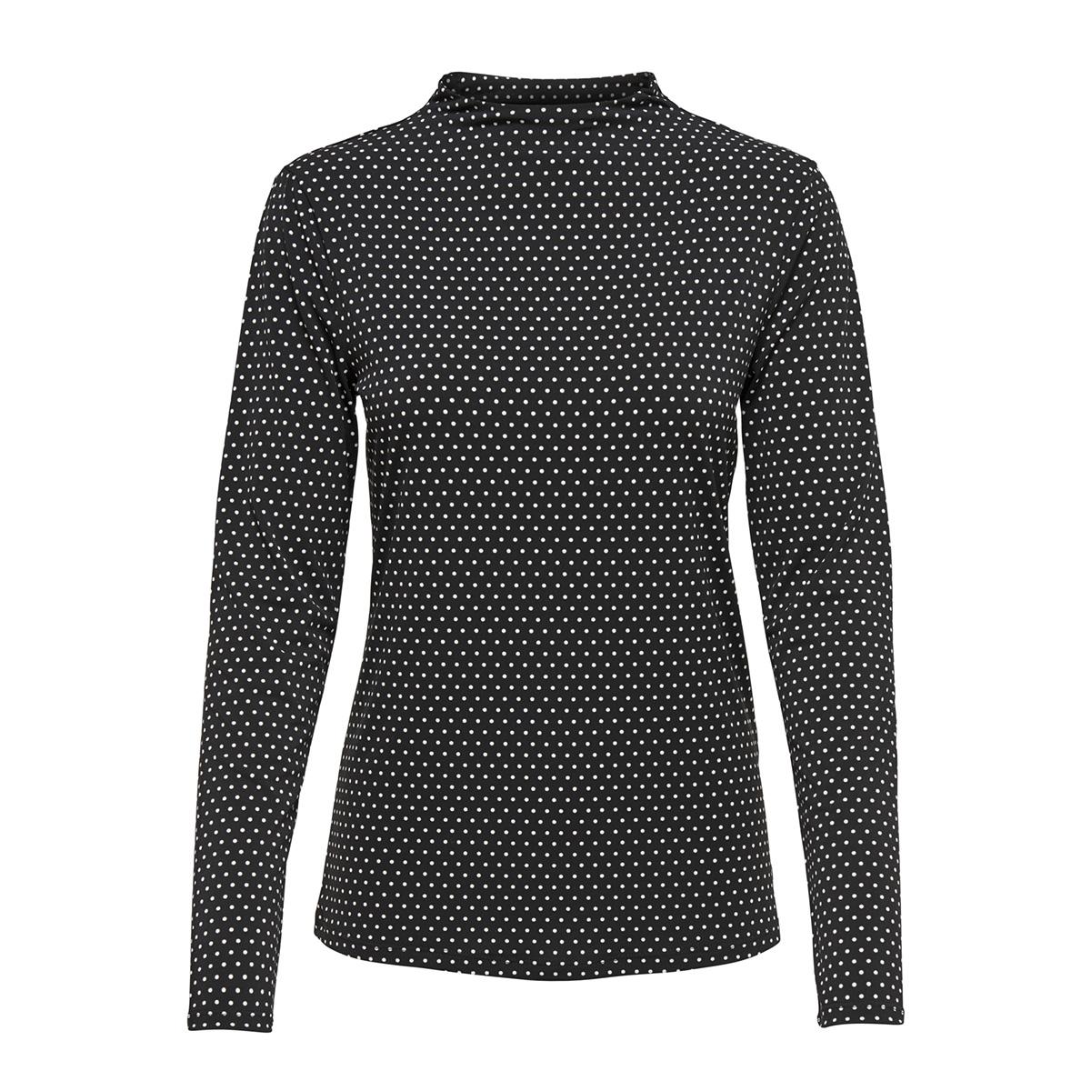 jdydotta l/s top jrs 15165987 jacqueline de yong t-shirt black/dots