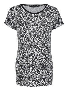 s0909 tee ss leopard aop supermom positie shirt black
