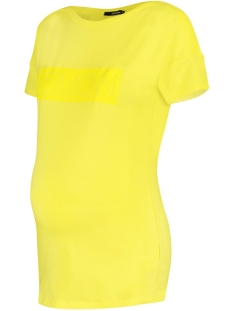 SuperMom Positie shirt S0929 TEE SS TEXT YELLOW CREAM YELLOW CREAM