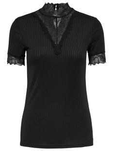 Jacqueline de Yong T-shirt JDYRINE 2/4 HIGHNECK TOP JRS NOOS 15171895 Black/DTM LACE A
