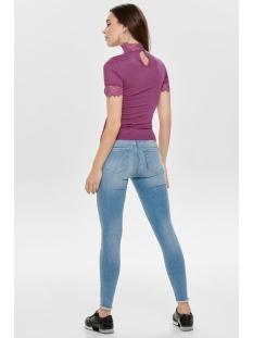 jdyrine 2/4 highneck top jrs noos 15171895 jacqueline de yong t-shirt vivid viola/dtm lace a