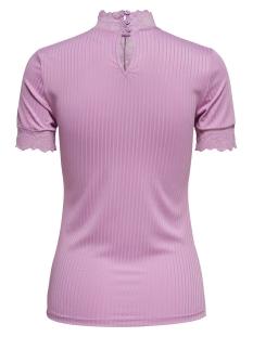 jdyrine 2/4 highneck top jrs noos 15171895 jacqueline de yong t-shirt mauve mist/dtm lace a