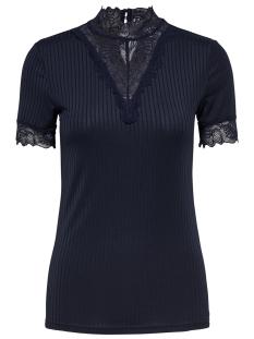 Jacqueline de Yong T-shirt JDYRINE 2/4 HIGHNECK TOP JRS NOOS 15171895 Sky Captain/DTM LACE A