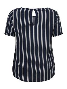 carmax ss top ss 19 15172232 only carmakoma t-shirt night sky/stripes ni