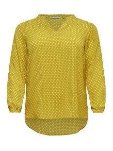 carluxcecilia ls top aop 1 15172706 only carmakoma t-shirt lemon curry/aop lemon