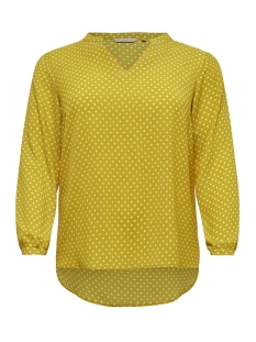 Only Carmakoma T-shirt CARLUXCECILIA LS TOP AOP 1 15172706 Lemon Curry/AOP LEMON