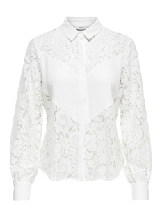 Only Blouse onlSKYLAR LS SHIRT WVN 15171850 Bright White