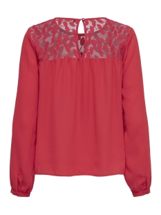 onlata l/s lace top wvn 15171846 only t-shirt flame scarlet