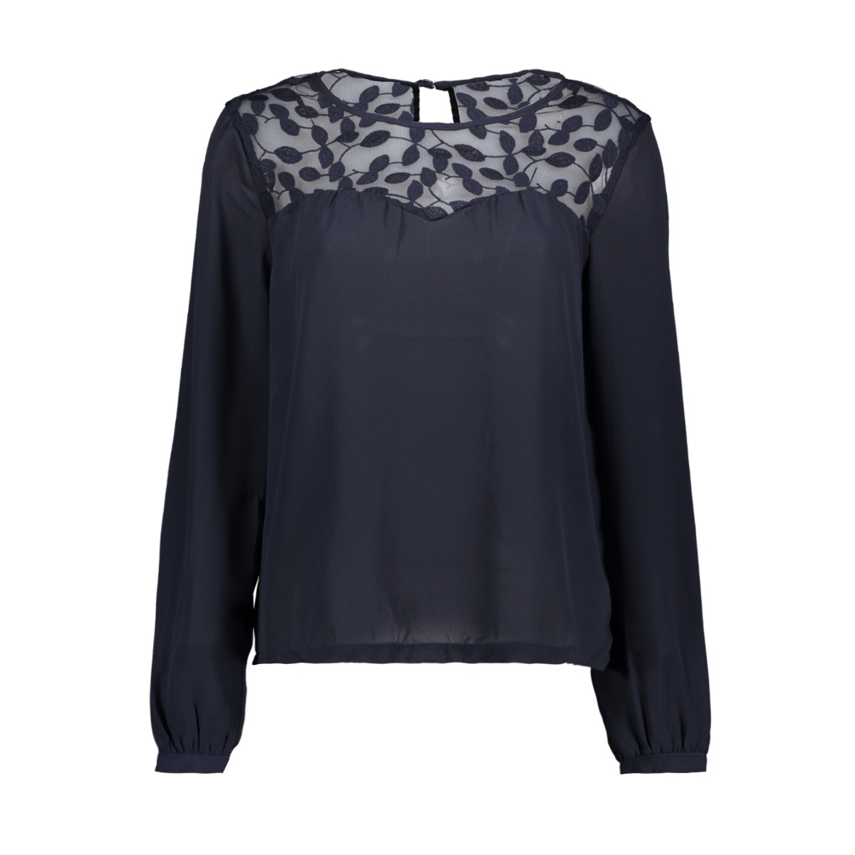 onlata l/s lace top wvn 15171846 only t-shirt night sky
