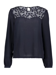 Only T-shirt onlATA L/S LACE TOP WVN 15171846 Night Sky