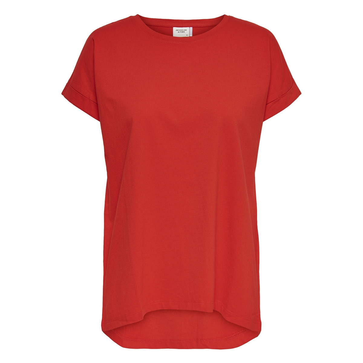 jdylouisa s/s fold up top jrs noos 15157925 jacqueline de yong t-shirt fiery red