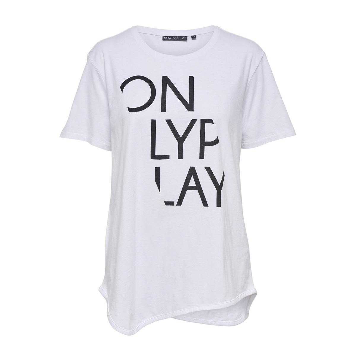 onpruri long ss tee 15166463 only play sport shirt white/ w. black p