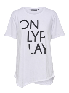 Only Play Sport shirt onpRURI LONG SS TEE 15166463 White/ W. BLACK P