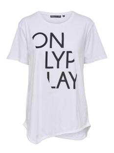 Only Play Sport shirt onpRURI LONG SS TEE 15166463 White/ W. BLACK P