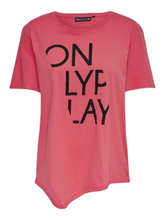 Only Play T-shirt onpRURI LONG SS TEE 15166463 Paradise Pink/ W. BLACK P