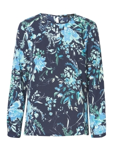 vmvita ls top wvn 10210303 vero moda blouse night sky/vita aop a
