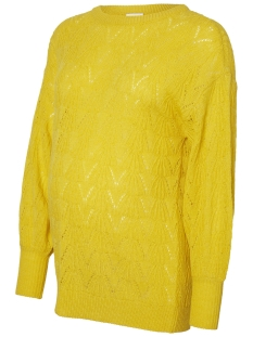 mllillian l/s knit top v. 20009488 mama-licious positie trui super lemon/melange