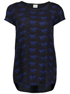 Jacqueline de Yong T-shirt JDYMARLI S/S TOP WVN 15173944 Black/LEOPARD