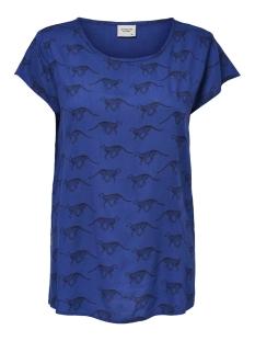 jdymarli s/s top wvn 15173944 jacqueline de yong t-shirt surf the web/leopard