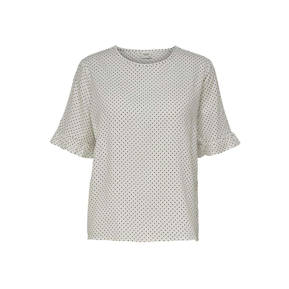 jdyiggy 2/4 top wvn 15174602 jacqueline de yong t-shirt cloud dancer/small black