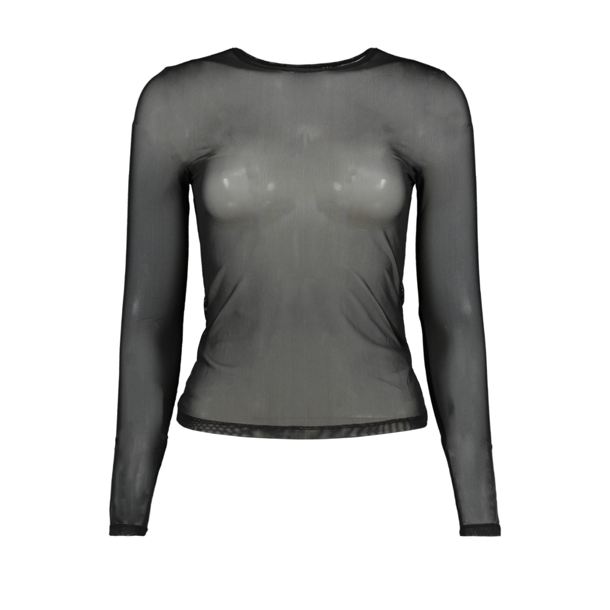nmsam l/s mesh top color 27005744 noisy may t-shirt black