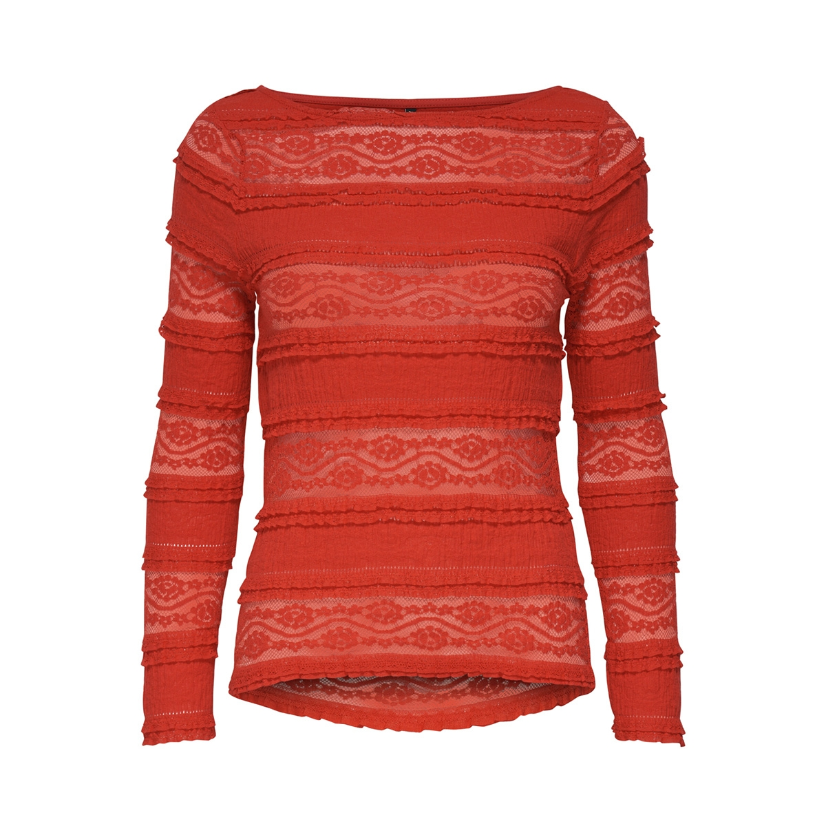 onlmarjorie l/s boatneck top jrs 15173980 only t-shirt mars red