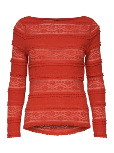 Only T-shirt onlMARJORIE L/S BOATNECK TOP JRS 15173980 Mars Red