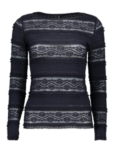 Only T-shirt onlMARJORIE L/S BOATNECK TOP JRS 15173980 Night Sky