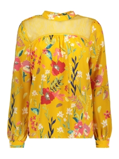 Only T-shirt onlPENNY LS TOP WVN 15171802 Mango Mojito/ FREPPY FLO