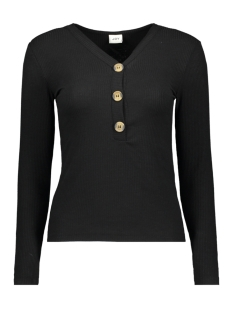 Jacqueline de Yong Trui JDYBETTY L/S BUTTON TOP JRS EXP 15186108 Black/ FAKE HORN