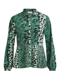 Vila Blouse VILEOMI L/S SHIRT /RX 14053971 Pepper Green/LEO