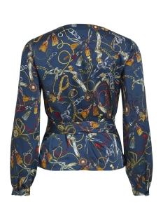 vizula l/s top /rx 14054316 vila blouse navy blazer/ chain print