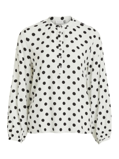 Vila Blouse VIDOTLA L/S TOP 14052802 Cloud Dancer/BLACK DOTS