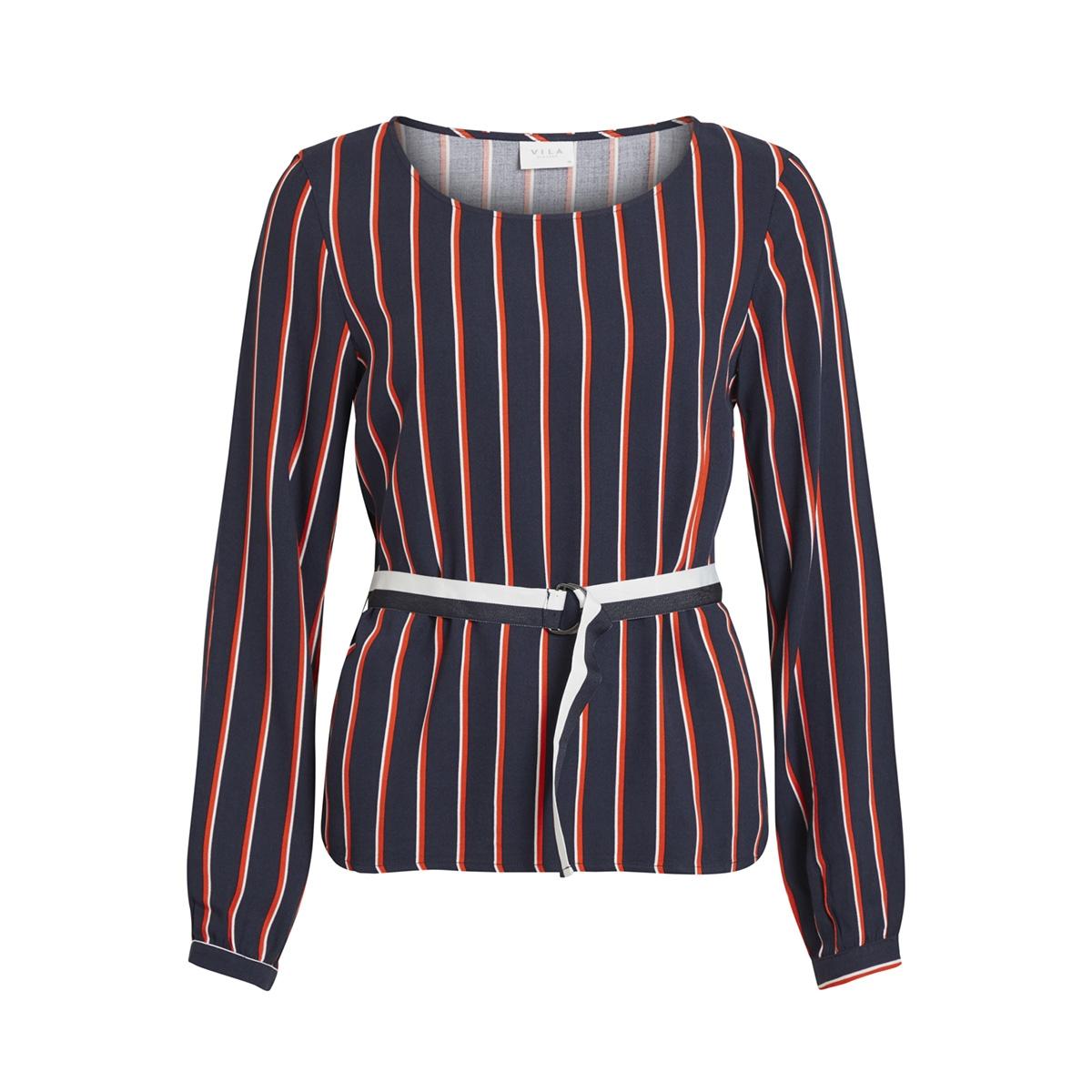 visezu trackie l/s top 14051894 vila blouse navy blazer/trackie