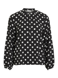 Vila Blouse VIDOTLA L/S TOP 14052802 Black/CLOUD DANCER DOTS