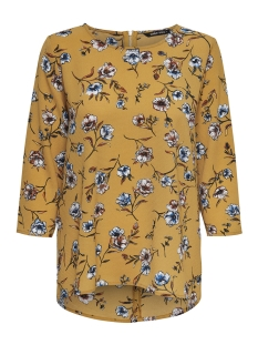 Only T-shirt onyELVA 3/4 AOP TOP WVN 15169326 Harvest Gold/FLOWER