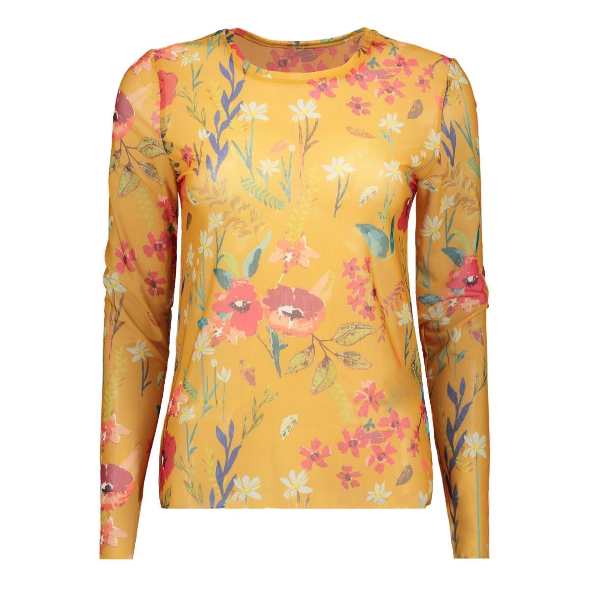 onlstine l/s o-neck top jrs 15168137 only t-shirt mango mojito/preppy flow