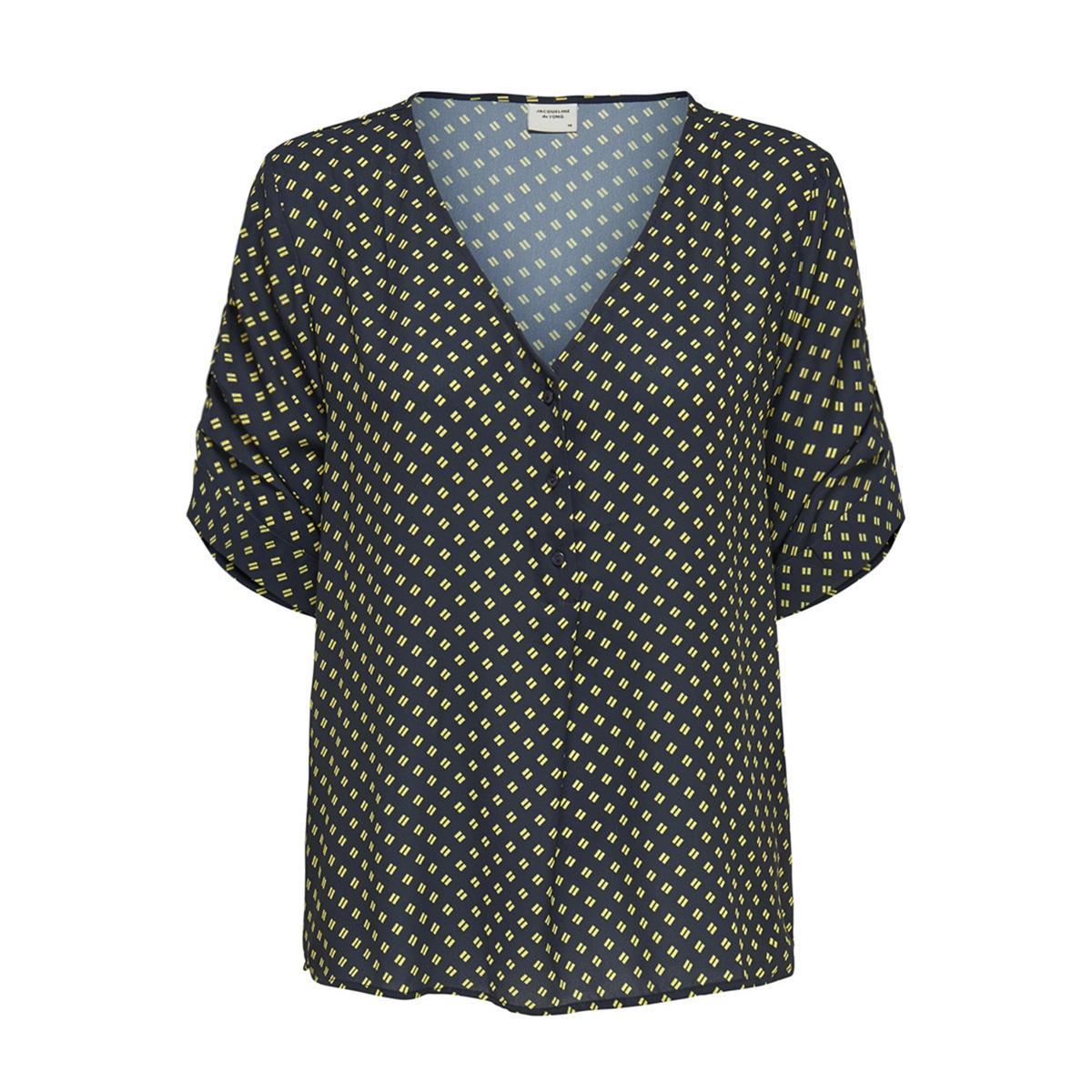 jdyinnes 2/4 top wvn 15169638 jacqueline de yong blouse sky captain/green shee