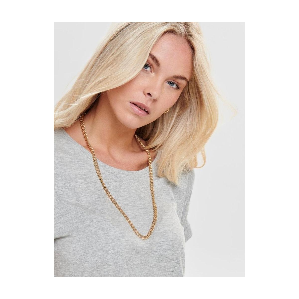onlmoster s/s o-neck top noos jrs 15106662 only t-shirt light grey melange