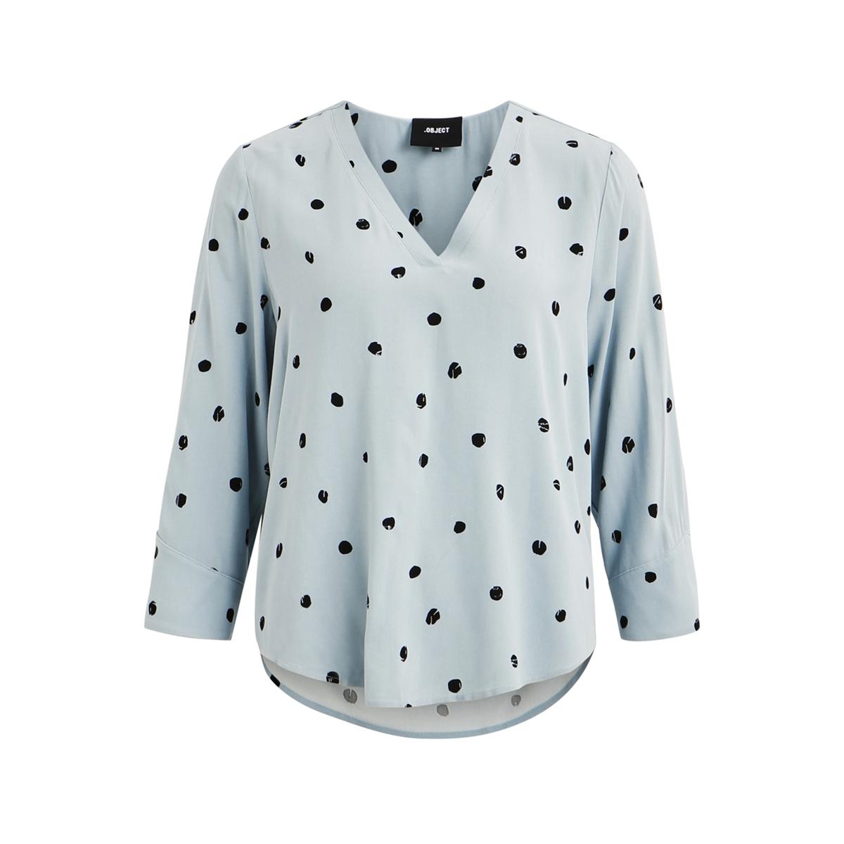 objbay 3/4 top aop seasonal 23028469 object t-shirt stone blue/aop evie