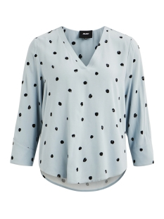 Object T-shirt OBJBAY 3/4 TOP AOP SEASONAL 23028469 Stone Blue/AOP EVIE