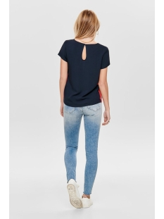 onlfirst ss panel top noos wvn 15171513 only t-shirt night sky/w. high risk red