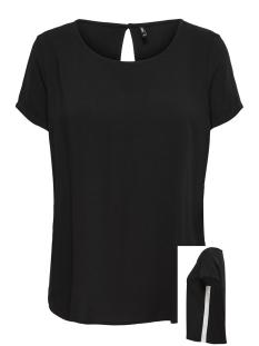 Only T-shirt onlFIRST SS PANEL TOP NOOS WVN 15171513 Black/W. CLOUD DANCER
