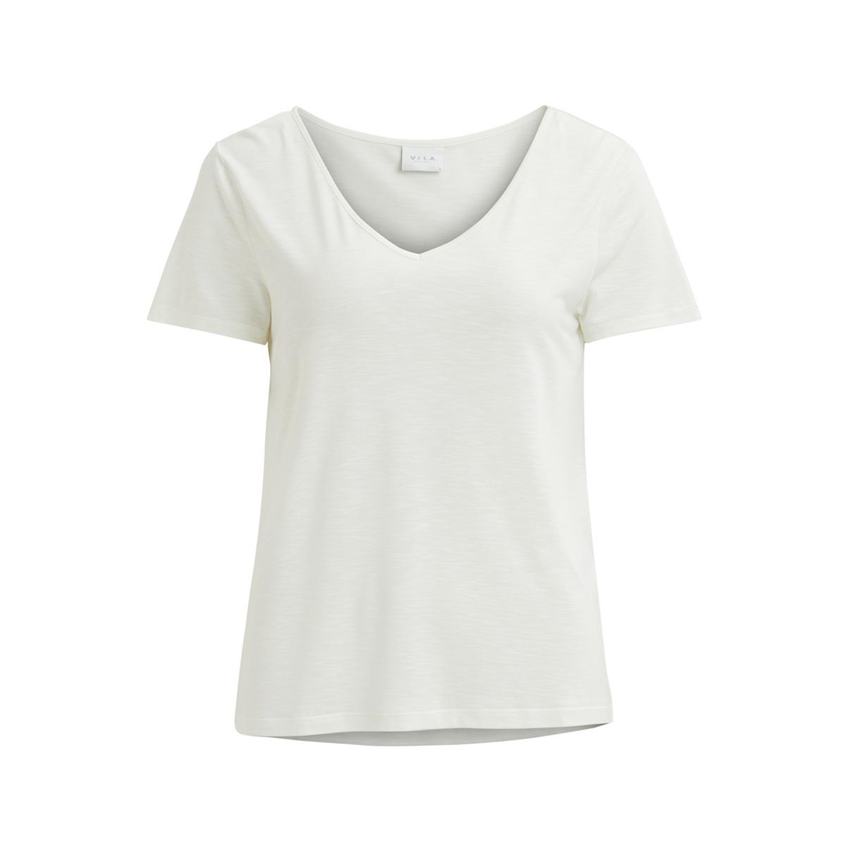 vinoel s/s v-neck t-shirt-noos 14047596 vila t-shirt cloud dancer