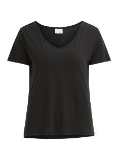 Vila T-shirt VINOEL S/S V-NECK T-SHIRT-NOOS 14047596 Black