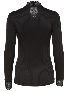 jdyrine l/s high neck top jrs noos 15166244 jacqueline de yong t-shirt black/ dtm lace a