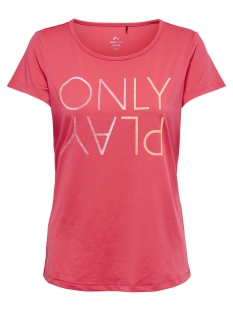 Only Play Sport shirt onpHAVANA REGULAR SS TRAINING TEE 15166325 Paradise Pink/W. NEON OR