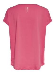 onpsaffron training loose ss tee 15166305 only play sport shirt paradise pink/w. black a